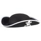 Party Creator Pirate Hat With Skull  Black