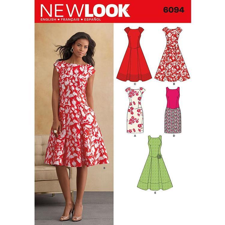 New Look Pattern 6094 Women's Dress
