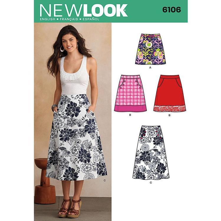 New Look Pattern 6106 Women's Skirt