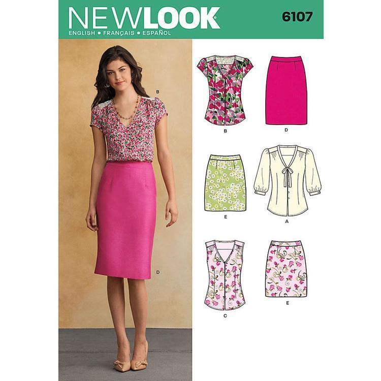 New Look Pattern 6107 Women's Coordinates
