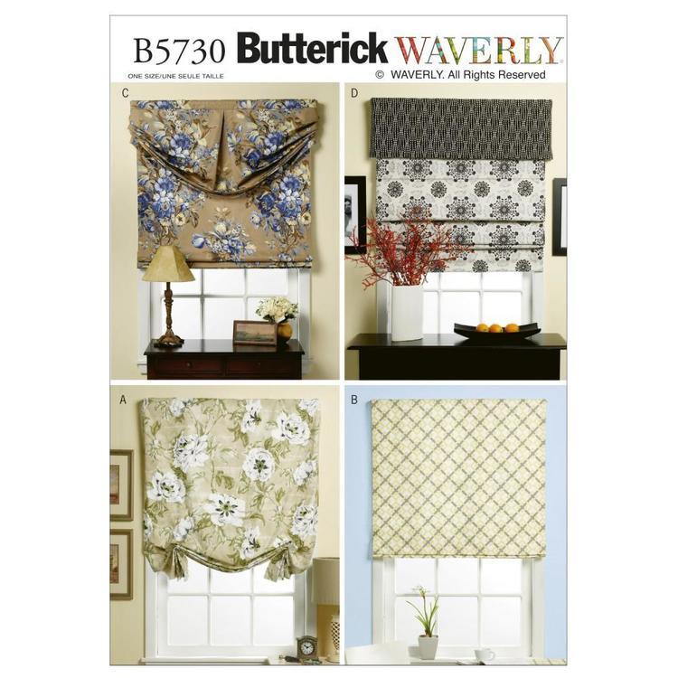 Butterick Pattern B5730 Window Shade & Valance