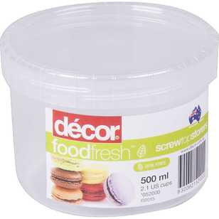 Decor Food Fresh Screw Top Storer 500 mL