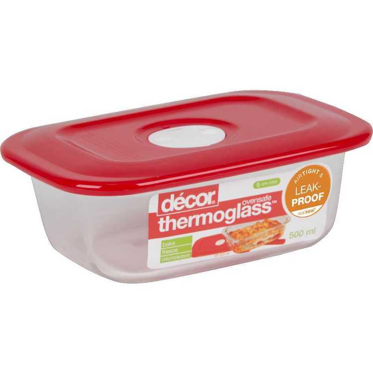 Decor Thermoglass Oblong Baking Dish 500 mL Red