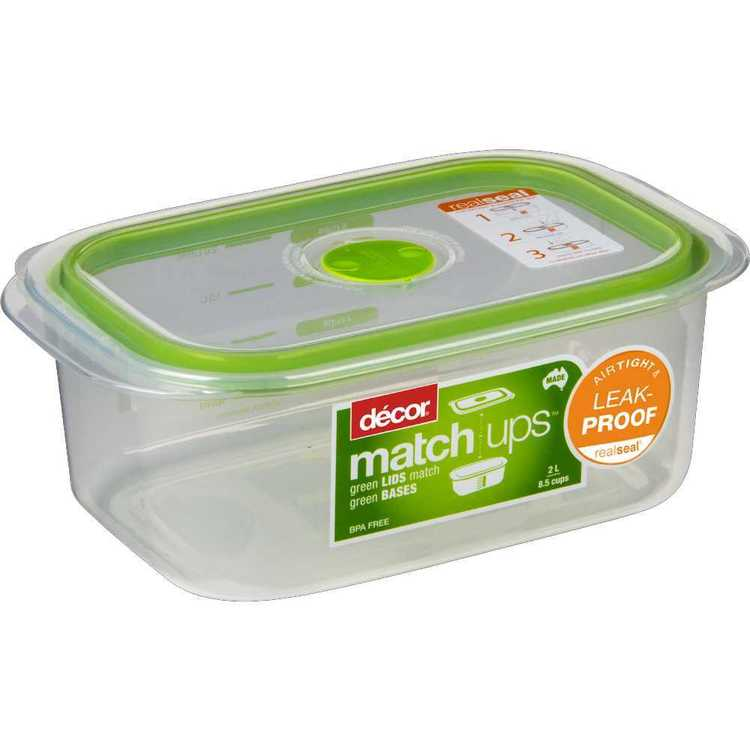Decor Match-ups Oblong Storer 2 L Green