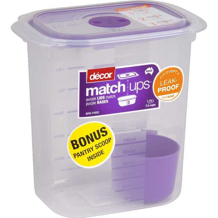 Decor Match-ups Tall Oblong Storer 1.75 L Purple