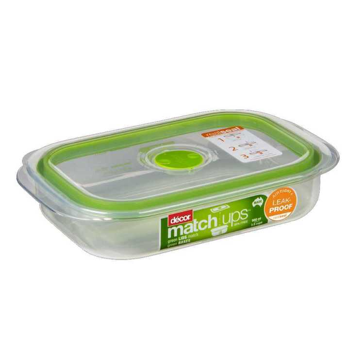 Decor Match-ups Shallow Oblong Storer 900 mL Green