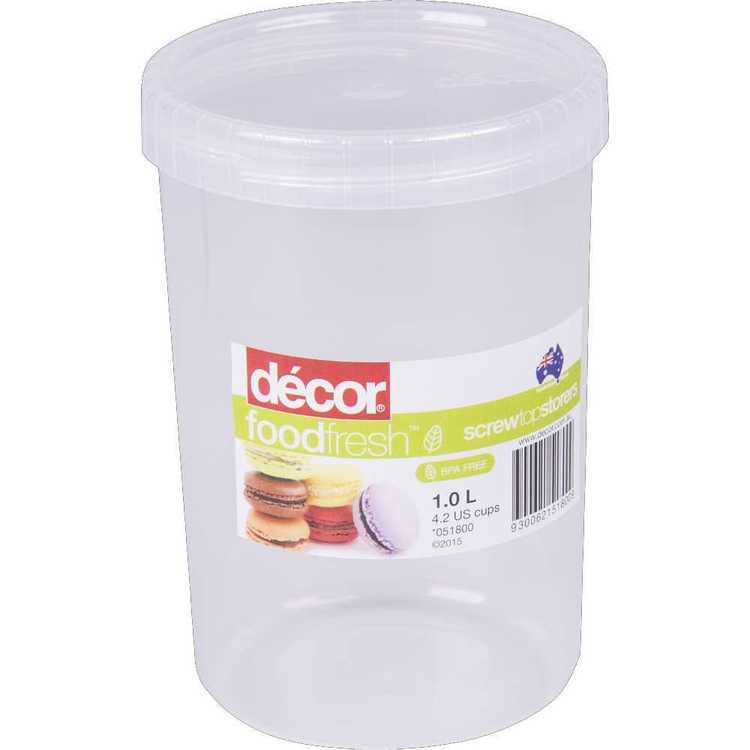 Decor Food Fresh Screw Top Storer 1 L Clear
