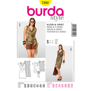 Burda 7202 Women's Dress And Top