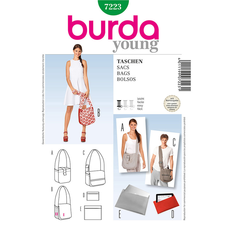 Burda Pattern 7223 Bags