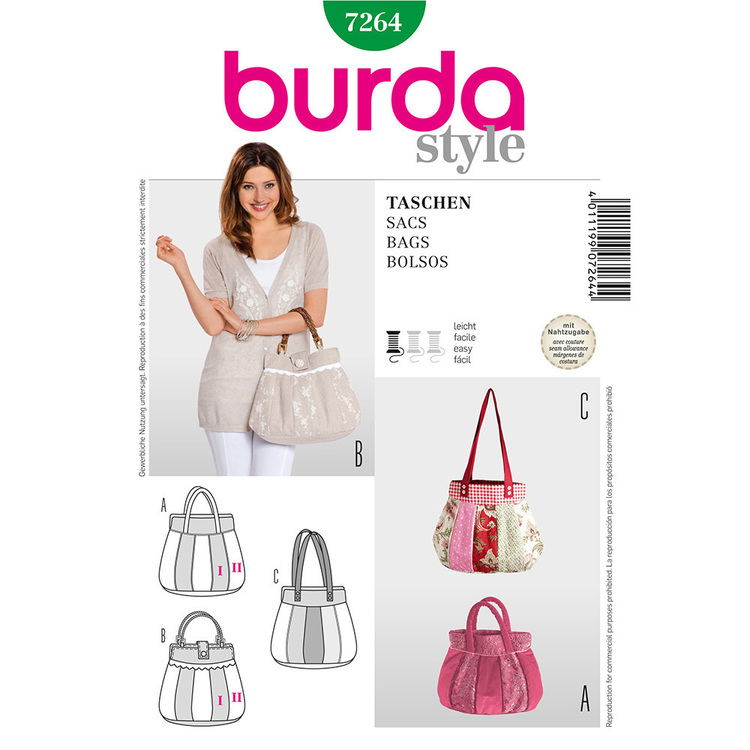 Burda Pattern 7264 Bags