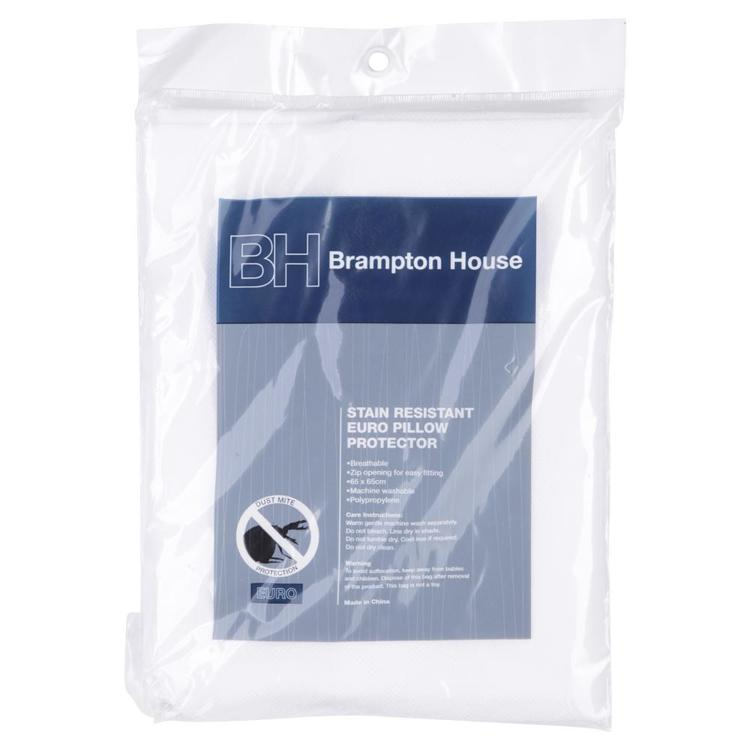 Brampton House Stain Resistant European Pillow Protector White European