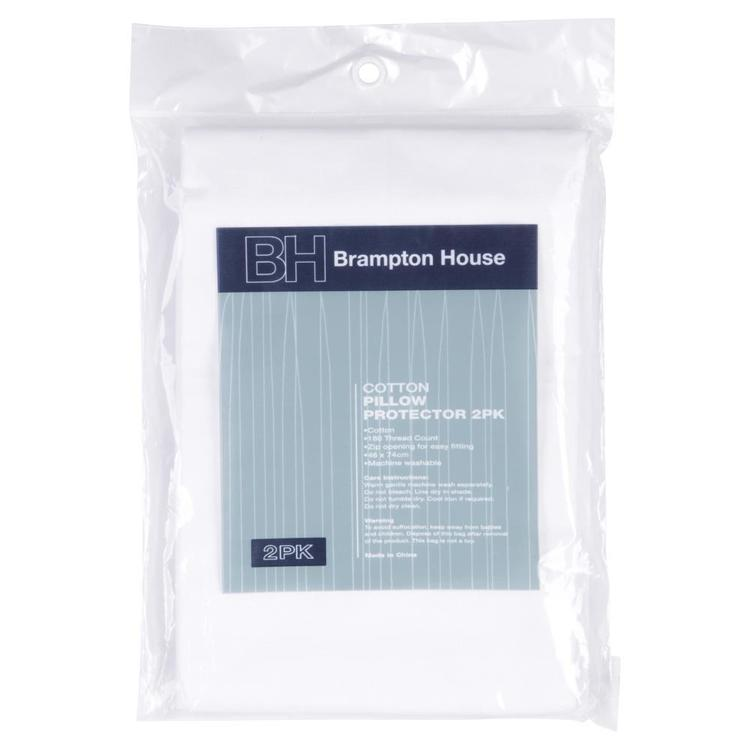 Brampton House Regular Pillow Protector 2 Pack White Regular