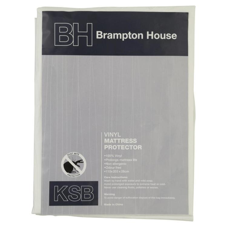 Brampton House Vinyl Mattress Protector White