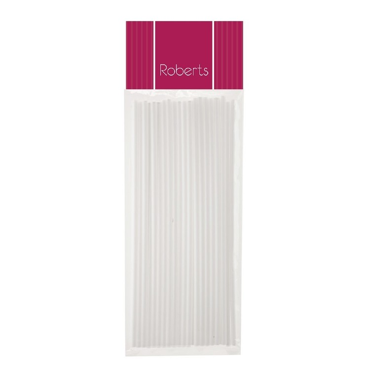 Roberts Edible Craft 20 cm Lolly Pop Sticks White 200 mm