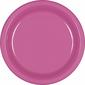 Amscan Bright Pink Plastic Round Plates 20 Pack Bright Pink