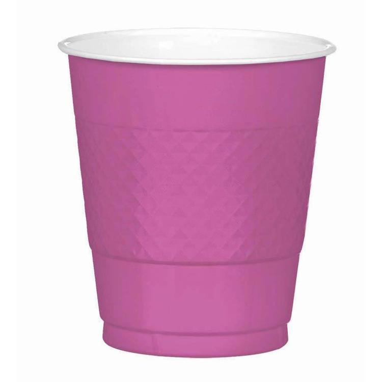 Amscan Bright Pink Plastic Cups