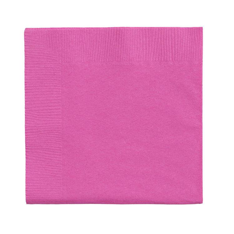 Amscan 2 Ply Bright Pink Beverage Napkins
