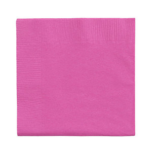 Amscan 2 Ply Bright Pink Beverage Napkins - Everyday Bargain
