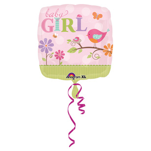 Amscan Foil Tweet Baby Girl Balloon