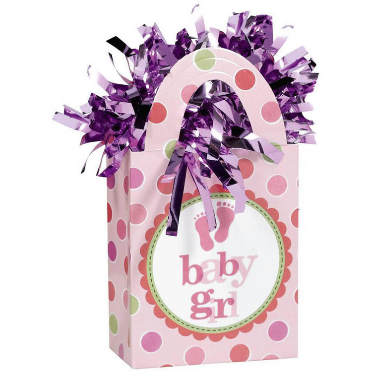Amscan Baby Girl Mini Tote Balloon Weight