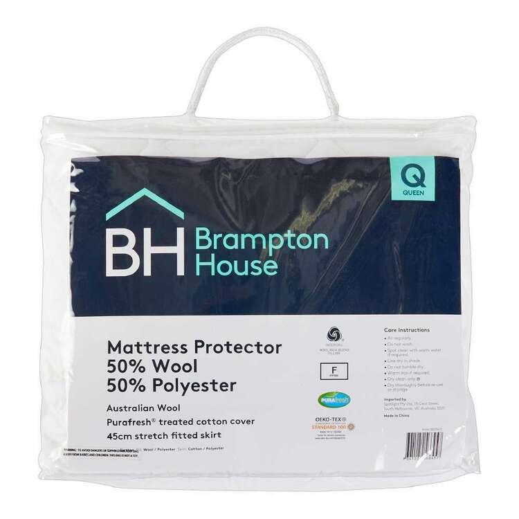Brampton House 50% Wool 50% Polyester Mattress Protector