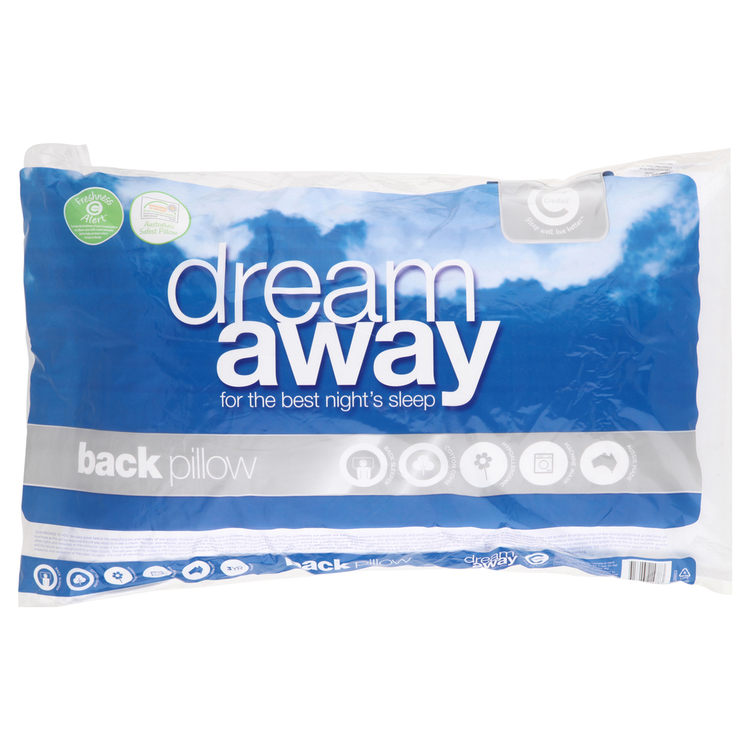 Dream Away Dream Away Back Sleeper Pillow White Standard