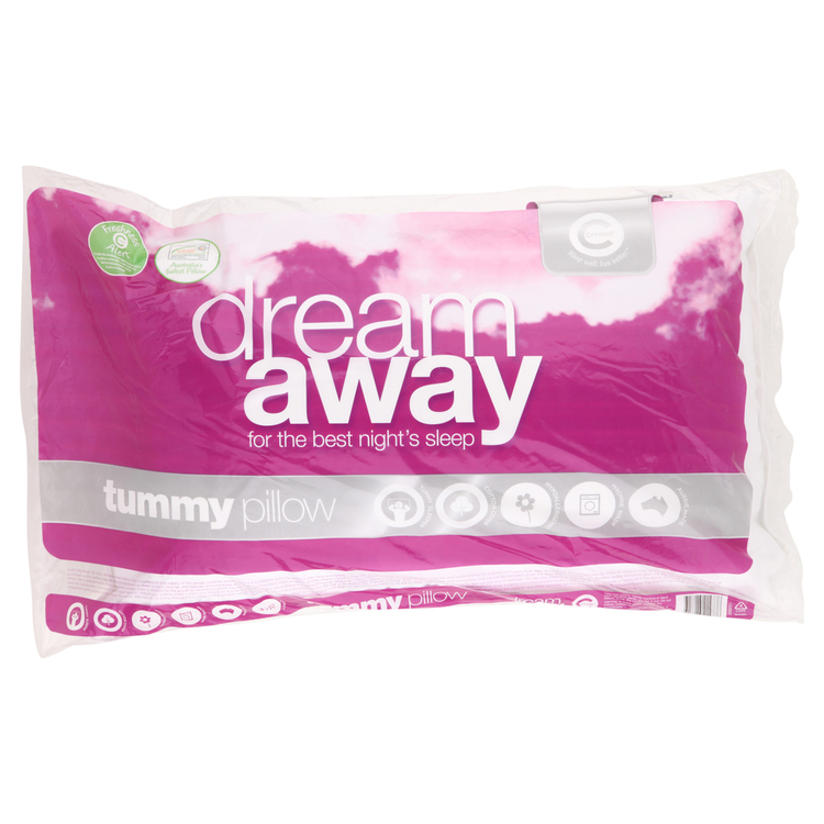 Dream Away Dream Away Tummy Sleeper Pillow White Standard