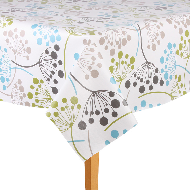 Ladelle Clover Tabletone By The Metre Green & Taupe