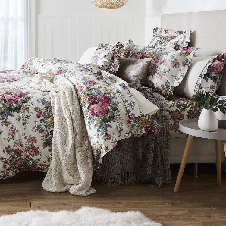 Gainsborough Rosewood Floral Quilt Cover Set