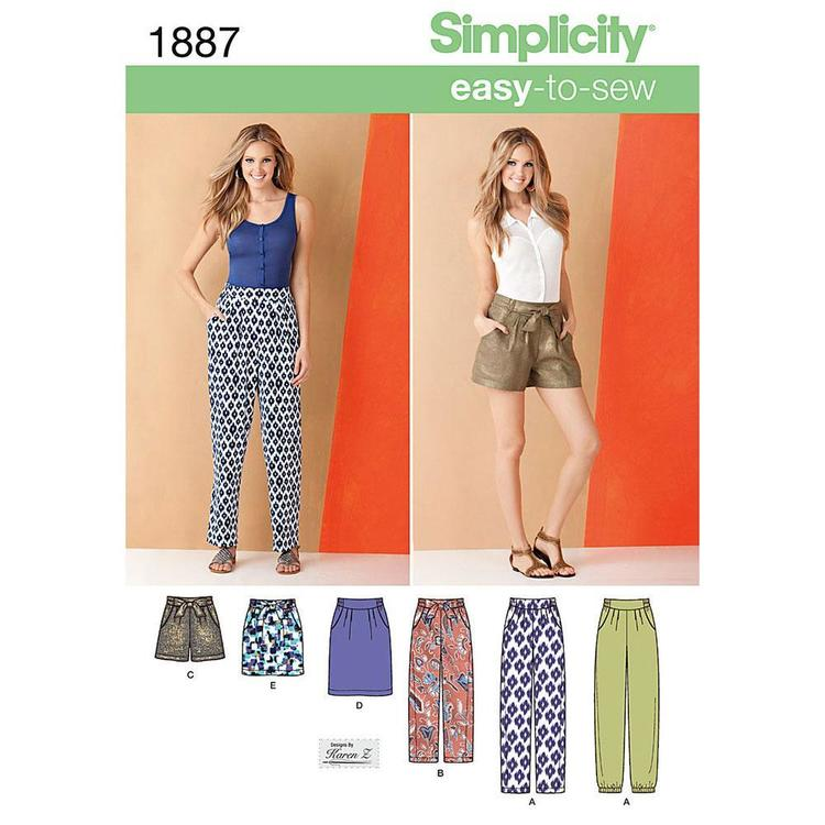 Simplicity Pattern 1887 Women's Coordinates
