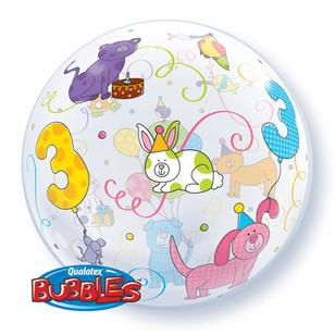Qualatex Bubbles Age 3 Pets Balloon