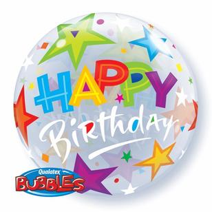 Qualatex Bubbles Birthday Brilliant Stars Balloon