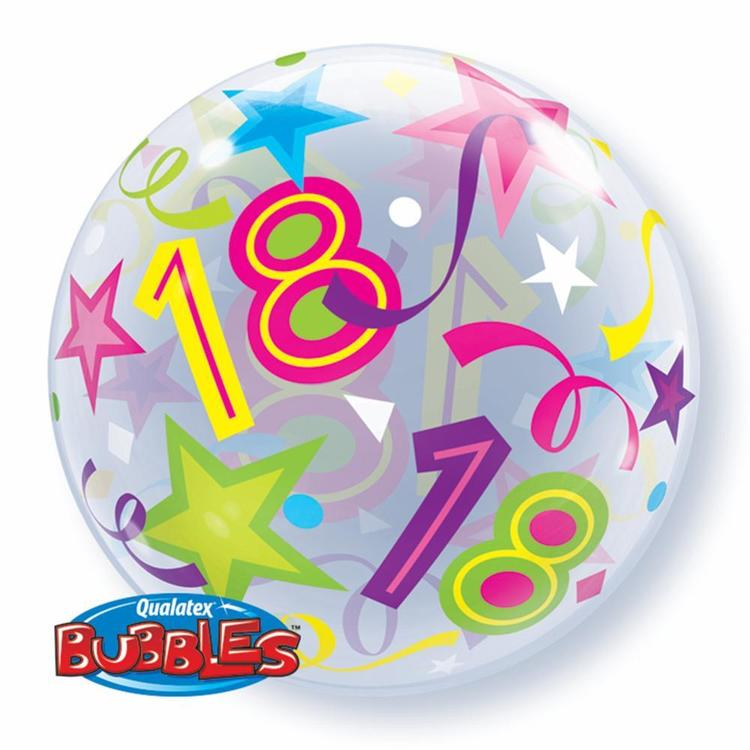 Qualatex Bubbles 18th Birthday Balloon