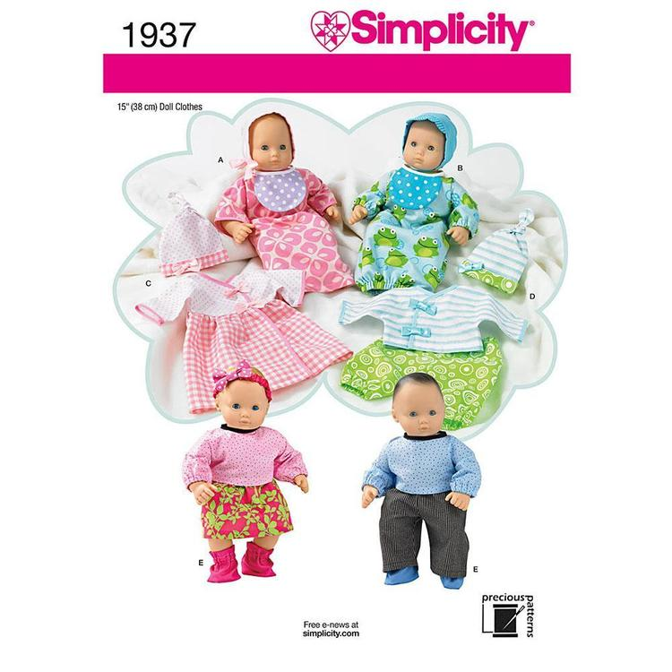 Simplicity 1937 Doll Clothes  One Size