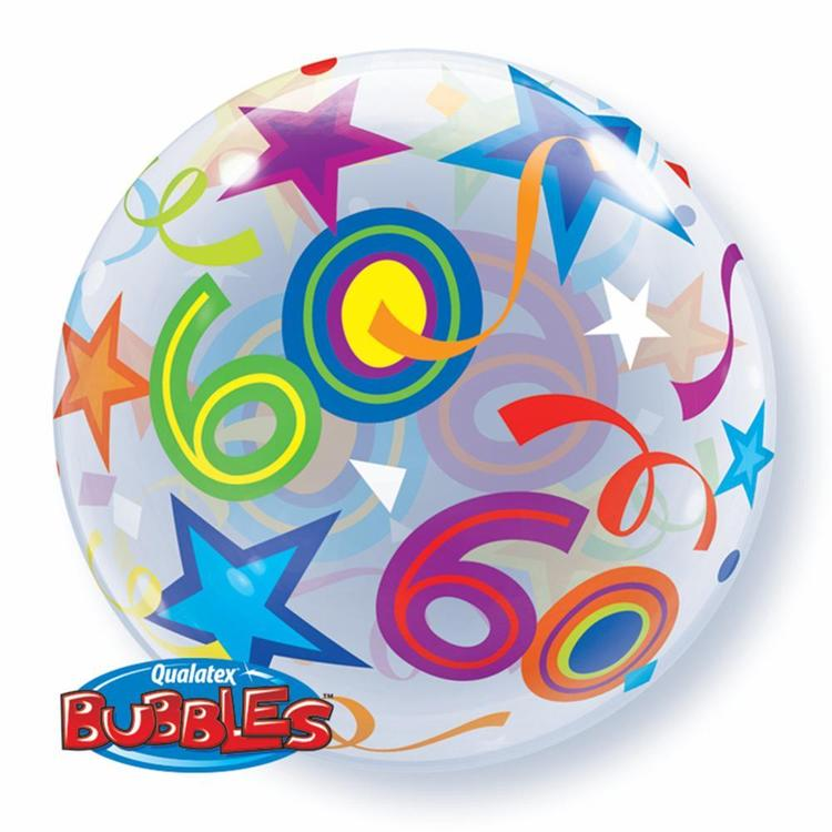 Qualatex Bubbles 60th Birthday Balloon