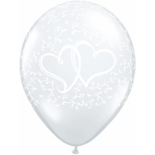 Qualatex Entwined Hearts Latex Balloon