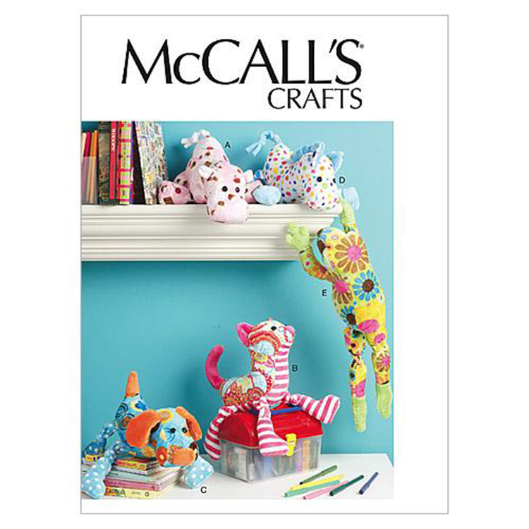 McCall's M6485 Stuffed Animals One Size