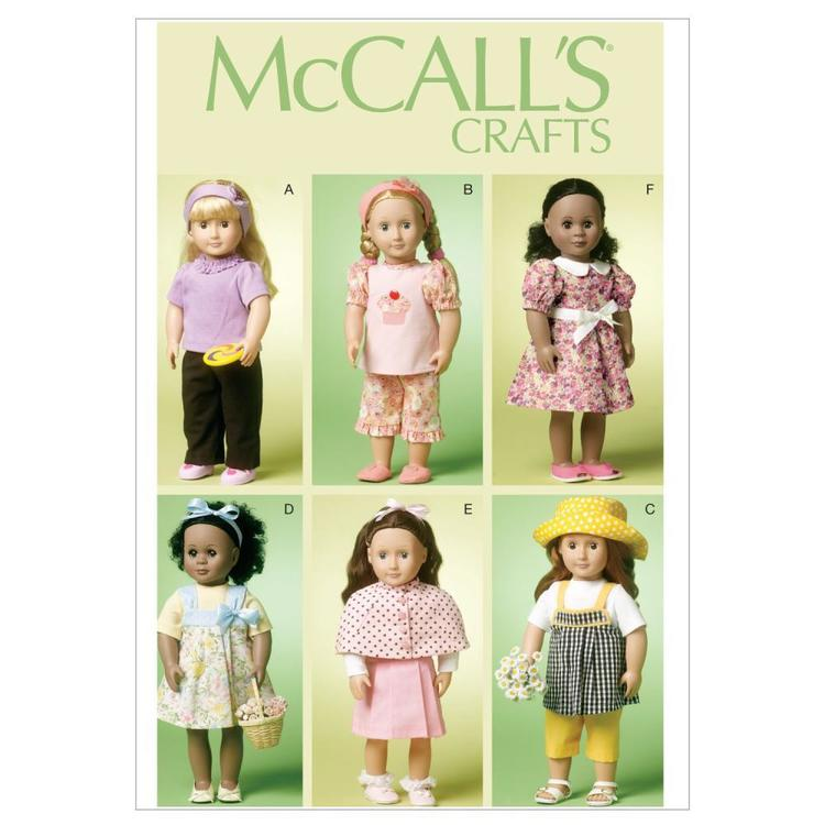 """McCall's Pattern M6526 18"""" Doll Clothes"""