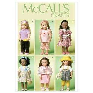 "McCall's Pattern M6526 18"" Doll Clothes"