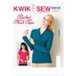 Kwik Sew K3915 Ruched Neck Tops  X Small - X Large