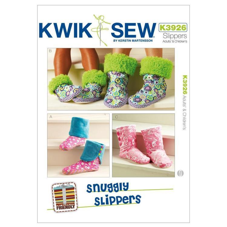 Kwik Sew Pattern K3926 Snuggly Slippers