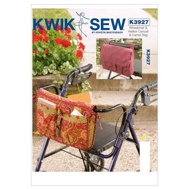Kwik Sew Pattern K3927 Wheelchair & Walker Carryall & Carrier Bag