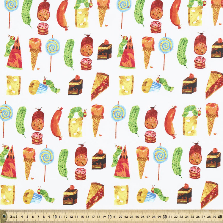 Very Hungry Caterpillar Food Fabric