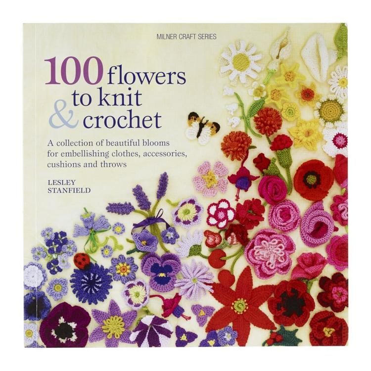 Sally Milner Publishing 100 Flowers To Knit And Crochet White