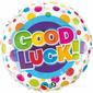 Qualatex Good Luck Colourful Dots Foil Balloon Multicoloured 45 cm