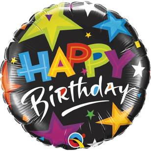 Qualatex Foil Birthday Brilliant Stars Balloon