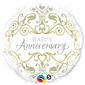 Qualatex Anniversary Classic Foil Balloon White