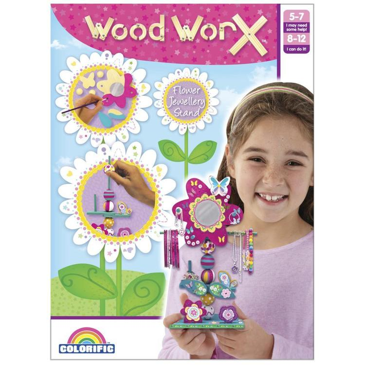 Wood WorX Flower Jewellery Stand Multicoloured