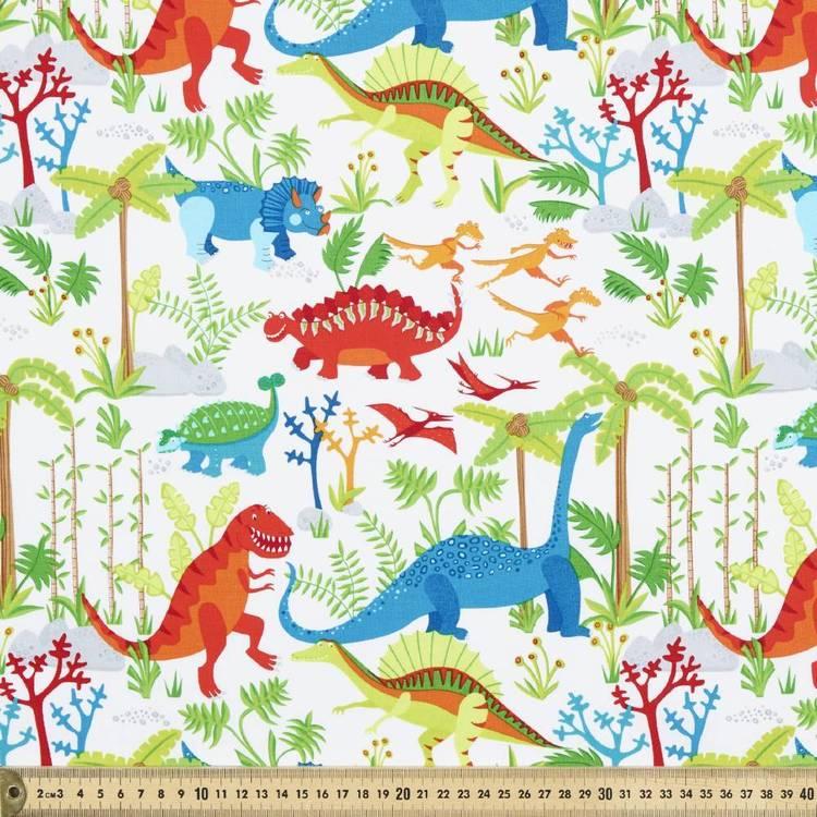 Timeless Treasures Junglesaurus Dinosaur Fabric