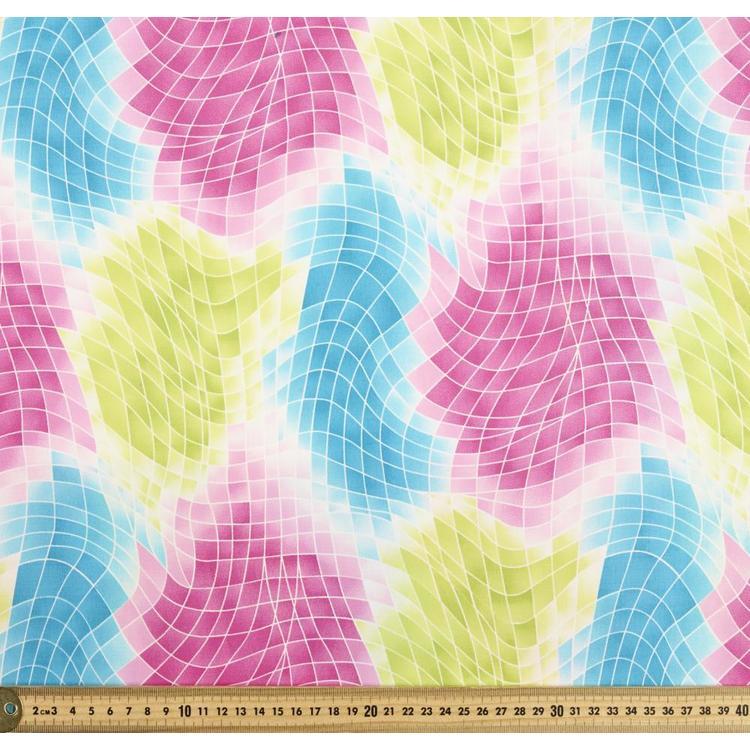 Spots & Stripes Pixel Printed 112 cm Cotton Fabric